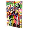 Menaul Fine Art 'Crayons' by Scott J. Menaul Graphic Art on Wrapped Canvas