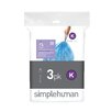 simplehuman Code K Custom Fit Recycling Liner (3 Pack)