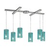 Elk Lighting Ice Fragments 6 Light Kitchen Island Pendant