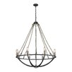 Elk Lighting Natural Rope 8 Light Mini Chandelier