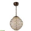 Elk Lighting Crystal Sphere 1 LED Integrated Bulb Globe Pendant
