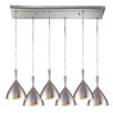 Elk Lighting Spun Aluminum 6 Light Kitchen Island Pendant