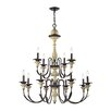 Elk Lighting Channery Point 12 Light Candle Chandelier