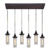 Elk Lighting Fulton 6 Light Kitchen Island Pendant