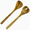French Home 12-inch Olive Wood Salad Servers Set