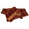 HiEnd Accents Pine Cone Plaid 3 Piece Towel Set