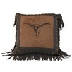 HiEnd Accents Embroidery Steer Throw Pillow