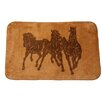 HiEnd Accents 3 Horse Light Chocolate Area Rug