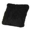 HiEnd Accents Faux Mink Throw Pillow