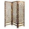 "Screen Gems 69"" x 60"" Rope Screen 3 Panel Room Divider"