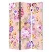 "Screen Gems 72"" x 48"" Floral Pattern 3 Panel Room Divider"