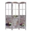 """Screen Gems 70"""" x 51"""" Flower Pot Garden 3 Panel Room Divider"""