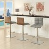 AC Pacific Tristan Adjustable Height Swivel Bar Stool With Cushion