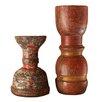 Nkuku Wooden Reclaimed Candlestick