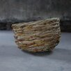 Nkuku Mundu Bamboo and Leather Basket