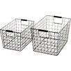 Nkuku Huma 2 Piece Wire Basket Set