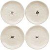 """Magenta 8"""" Luncheon Plate 4 Piece Set"""