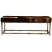 Pennisula Home Collection Co. Cowhide Upholstered Bedroom Bench