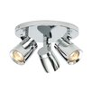 Saxby Lighting Knight 3 Light Ceiling Spotlight