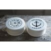 Creative Co-Op Waterside 2 Piece Round Stoneware Box Set (Set of 2)