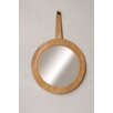 Creative Co-Op Morocco Leather Framed Wall Mirror