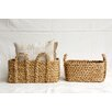 Creative Co-Op Morocco 2 Piece Bankuan Braided Basket Set