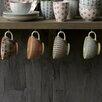 Creative Co-Op 4 Piece Waterside Ceramic Teacup Set