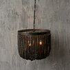 Creative Co-Op Turn of the Century Wood Beads Chandelier