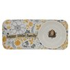 Creative Co-Op 2 Piece Happy Little Family Stoneware Tray Set