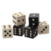 Creative Co-Op Turn of the Century Square Hand Carved Mango Wood Dice (Set of 6)
