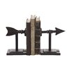 Creative Co-Op Terrain Arrow Book End (Set of 2)