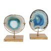 Creative Co-Op Blue Agate on Stand