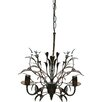 Creative Co-Op Chateau 3 Light Mini Chandelier with Ceramic Flowers