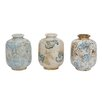 Creative Co-Op Indigo Terra Cotta Vase