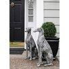 Quintanar Dog Statue - Configuration: Looking Right - One Allium Way Garden Statues and Outdoor Accents