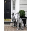 Quintanar Dog Statue - Configuration: Looking Left - One Allium Way Garden Statues and Outdoor Accents