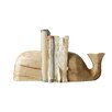 Creative Co-Op Waterside Whale Book Ends (Set of 2)