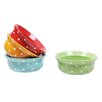 Creative Co-Op Urban Homestead 4 Piece Round Stoneware Bowl Set (Set of 4)
