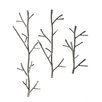 Creative Co-Op Smudge 3 Piece Hand Forged Metal Branch Wall Hook Set