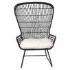 Creative Co-Op Secret Garden Open Weave Wing Club Chair