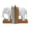 Creative Co-Op Turn of the Century Elephant Book Ends (Set of 2)