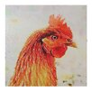 Creative Co-Op 'Country Hen' Painting print on Canvas