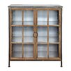 Creative Co-Op Sonoma 2 Door and 3 Shelf Metal and Wood Accent Cabinet