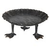 Creative Co-Op Smudge Round Decorative Metal Tray with Duck Feet