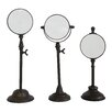 Creative Co-Op Turn of the Century 3 Piece Metal Magnifying Mirror on Stand Set (Set of 3)