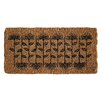 Creative Co-Op Garden Flowers Doormat