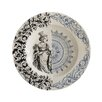 Creative Co-Op Smudge Round Stoneware Plate