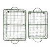 Creative Co-Op 2 Piece Wire Wall Basket Shelve Set