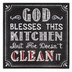 Creative Co-Op Urban Homestead God Blesses This Kitchen Wall Décor