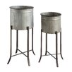 Brunelle 2-Piece Metal Pot Planter Set - Trent Austin Design Planters